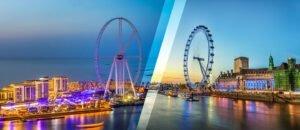 השוואה: העין של לונדון מול עין דובאי [Ain Dubai vs London Eye]
